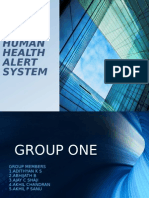 Human health alert system