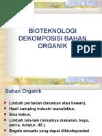 Bioteknologi Dekomposisi Bahan Organik