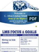 LMS Back to School Night 1516