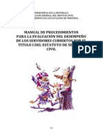 Manual de Procedimientos Para La Evaluación Del Desempeño[1]