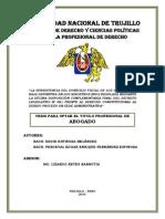 La Subsistencia Del Domicilio Fiscal de Los Sujetos Con Baja Definitiva en Los Registros (Ruc)