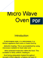 Presentation on Micro Wave Oven