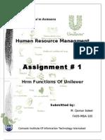 Human Resource Management at Unilever1