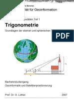 Trigonometrie Für Geodäten