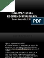 Reglamento Del Regimen Disciplinario