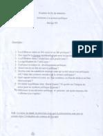 Examen Sciences Politiques S1 2009-2010