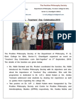 Report on Teacher's Day 2015