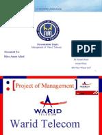 Managment project on Warid Telecom by usman pirzada