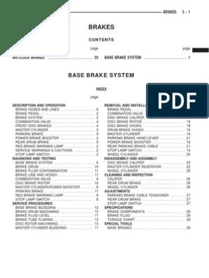 1999 Jeep TJ Wrangler Service Manual - 05  Brakes | Brake | Valve