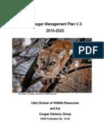 Utah Cougar Management Plan, v. 3, 2015-2025