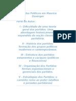 Partidos Políticos Em Maurice Duverger