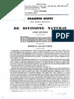 Scoto Eriugena (De Divisione Naturae)