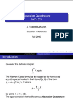 Gaussian Quadrature