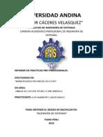 P1 CARATULA -  informe de practicas pre profesionales