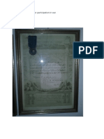 Blue Medal of Honnor for Participation in War