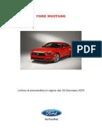 Listino Prezzi Mustang