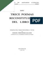 Poemas de Safo