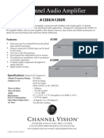 Channel Vision A1260 Data Sheet