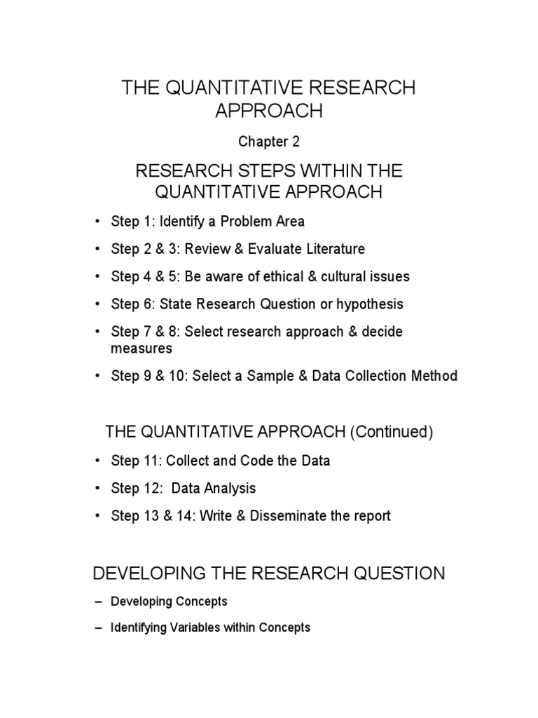 Quantitative Research | Statistics | Quantitative Research