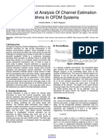 Comparison and Analysis of Channel Estimation Algorithms in Ofdm Systems