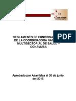 Reglamento Conamusa Aprobado Por Asamblea El 30.06.2015