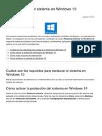 Como Restaurar El Sistema en Windows 10 23540 Ntpx98