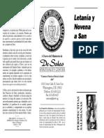 LETANÍA Y NOVENA A SAN FRANCISCO DE SALES