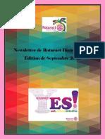 District Newsletter September 2015 (French)