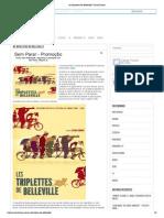 Cartaz Cine - resenha As Bicicletas de Belleville