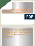 Pesentacion Pasos Para Realizar Un Plan Financiero