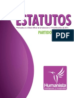 Estatutos Partido Humanista