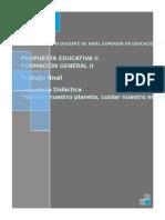 Tula r Trabajo Final Propuesta Educativa II