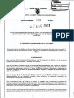 Dec_3016_2013 Permiso de Estudio Para La Recoleccion de Especimenes de Especies Silvestres de Biodiversidad Estudios Ambientales