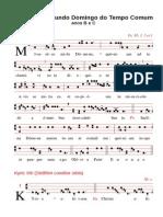 Folheto de Canto - Dom22TC