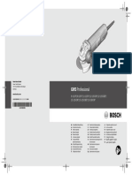 Bosch Grinder GWS 9 115 P Manual