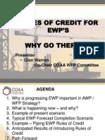 Engineering Work Package Rules of Credit Presentation