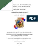 DETERMINACION Y PROYECCION DE LOS NIVELES DE CORTOCIRCUITO EN EL SISTEMA DE DISTRIBUCION DE LA CIUDAD DE SUCRE HASTA EL AÑO 2020