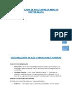 Organización de Una Empresa Minera Subterranea