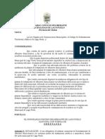 Ordenanza Municiapal Puelo Plantas Compactas de Biotratamiento de Efluentes Domiciliarios
