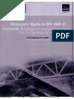 Designers Guide to en 1992 - Concrete Bridges