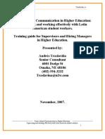Cross Communication In Higher Education