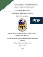 ESTUDIO DE LA COORDINANCIÓN DE AISLACIÓN EN LA SUBESTACIÓN ARANJUEZ