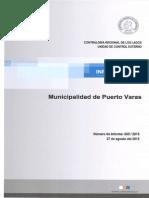 Informe Final 605-15 Municipalidad de Puerto Varas Contrataciones A_ Honorarios Con Cargo a Cuenta 21.04.004- Agosto 2015