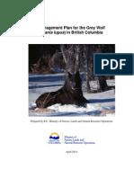 Grey Wolf Management Plan