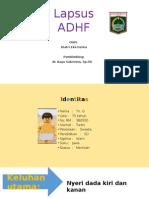 Lapsus ADHF