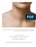 Robotic Thyroid Surgery Patient Manual