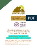 Please Join Holistic Nurses of New Mexico on Thursday