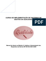 Manual Do Módulo 2 - Análise e Interpretação Dos Requisitos Da Norma NP en ISO 90012008