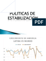 Estabilizacion economica e inflacion
