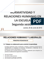 Normatividad y Relaciones Humanas en La Escuela Sesión 2